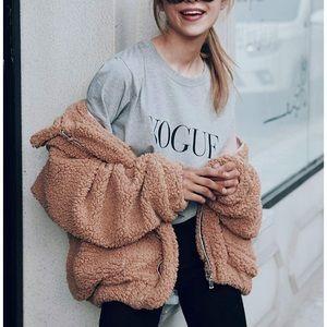 Amazon Teddy Sweater Faux Shearling Coat